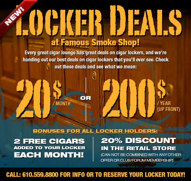 Leaf Cigar Bar Locker Rental