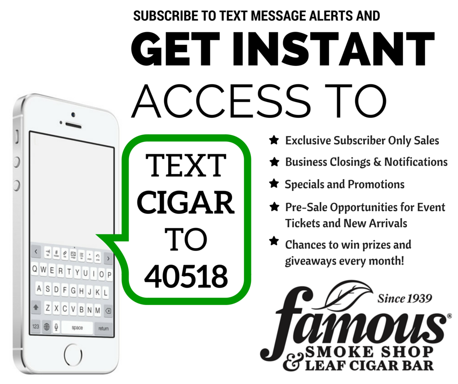 Leaf Cigar Bar Text Alerts