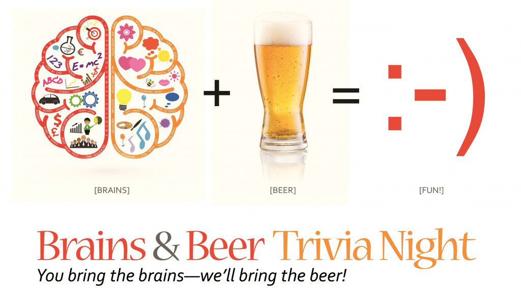 Trivia.Brains plus beer